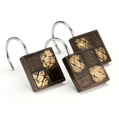 Popular Bath Zambia Copper Collection - Bathroom Shower Curtain Hooks