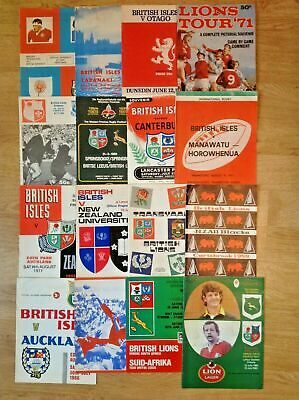 British Lions Rugby Tour Programmes 1959 - 2013