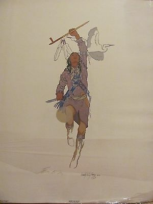 """ENOCH KELLY HANEY SIGNED  PRINT """"QUEST FOR PEACE"""" 1981"""