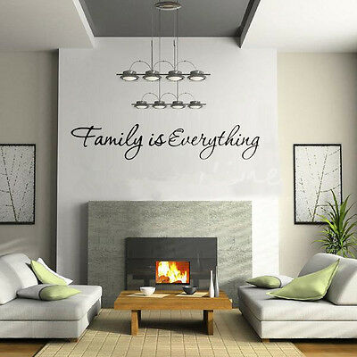 Fashion Modern Home Decor Removable Art Vinyl Wall Sticker Famous Aphorism Style