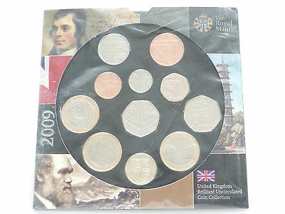 2009 Royal Mint Annual Uncirculated Kew Gardens 11 Coin Set Mint Sealed