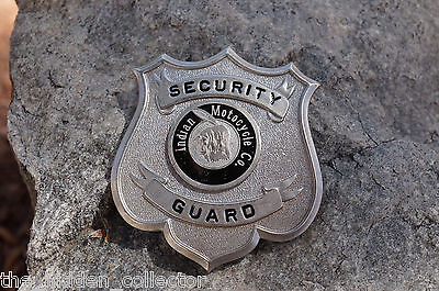 Indian Motorcycle Co. Security Guard Collector's Badge