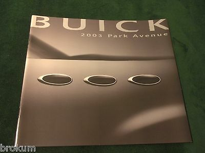Mint 2003 Buick Park Avenue Ultra Original  Sales Brochure New (Box 492)
