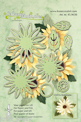 Lea'bilities Combi Multi Die Cutting Embossing Stencil Flowers  45.9630 Cards
