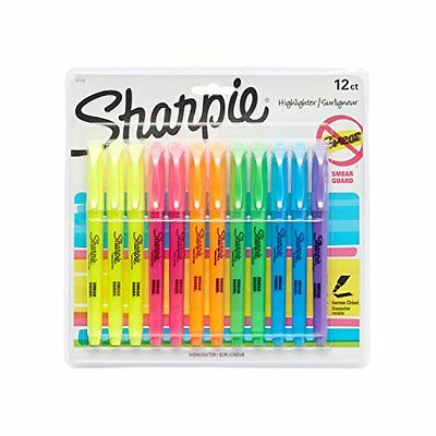 Sharpie 12-Pack Assorted Colors Chisel Tip Accent Pocket Style Highlighters