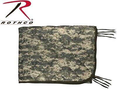 """Acu Camo Military Style Rip-Stop Poncho Liner With Ties - 62"""" x 82"""" Rothco 8475"""