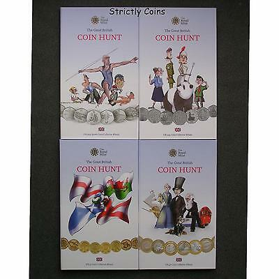 GREAT BRITISH COIN HUNT COLLECTOR ALBUM £2, £1, 50p, 50p Sports Olympic Folder