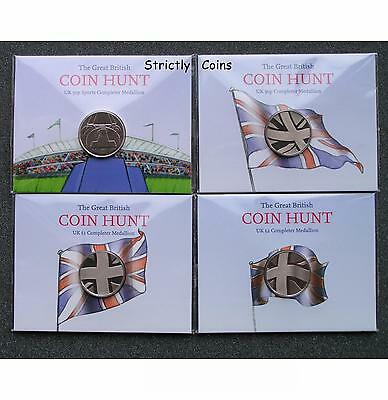 COMPLETER MEDALLIONS Coin Hunt Collector Album £2 £1 50p Sport Olympic Folder