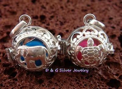 2x 925 Sterling Silver 16mm Harmony Ball Pendant SSB-316-DG