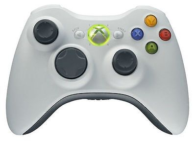 Joystick Joypad Xbox 360 Wireless Senza Fili Wifi Compatibile Controller Bianco