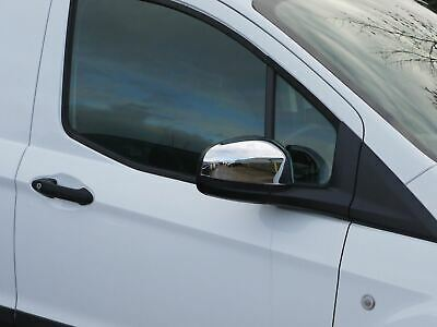 Chrome Stainless Steel 2pc Door Wing Mirror Covers for Ford Transit Courier