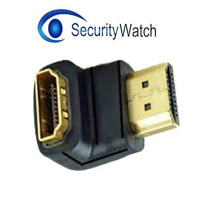 Right Angle HDMI Male to Female Connector Adapter 90 Degree Gold Plated 1.4v