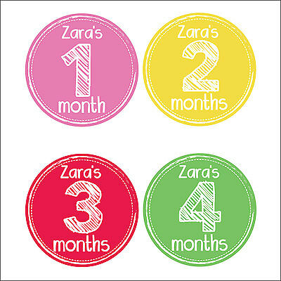 Personalised Monthly Baby Stickers, Milestone Stickers, Baby Shower Gift_G001