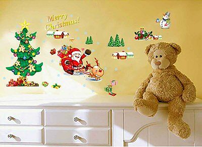 1x merry Christmas deer Decal Removable WALL STICKER Home Decor Kid 50*70cm F703