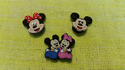 MICKEY & MINNIE MOUSE shoe charms/cake toppers!! Set of 3 !! FAST USA SHIPPING!!