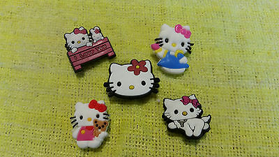 HELLO KITTY shoe charms/cake toppers!! Lot of 5!! FAST USA SHIPPING!!