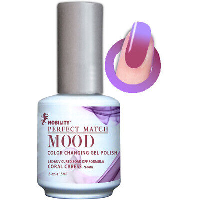 Lechat Mood Color Changing Soak-Off Gel Nail Polish Coral Caress #MPMG11 0.5 oz
