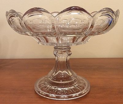 Antique Pressed Glass Compote Fruit Bowl Aesthetic Movement
