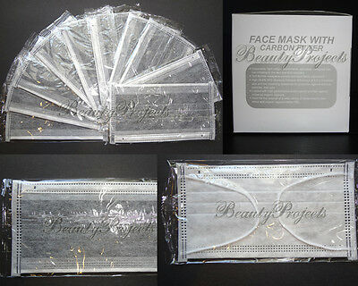 (10pcs) Face Mask with Carbon Filter Soft Comfortable Disposable Dental Supplies