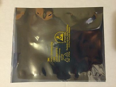 """Two 4x6"""" Static Shielding Bags ESD Antistatic Open-Top - Metal In - NEW"""