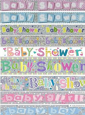 Baby Shower Party Banners Girl / Boy Pink, Blue & Multi Party Decorations