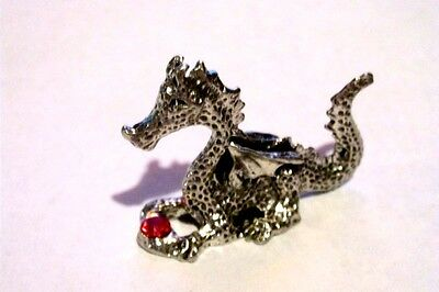 Pewter Fantasy Dragon With High Detail And Austrian Crystal