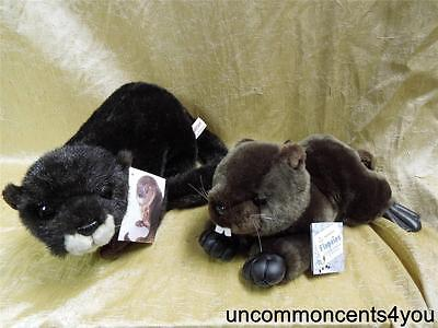 Lot of 2, Wildbeasts Otter, #21013,& Aurora, Flopsies Beaver, Both with Tags!!
