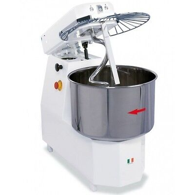 SPIRAL DOUGH MIXER 40 LITERS - 38KGS (84lb) - 2 SPEED - MADE IN ITALY