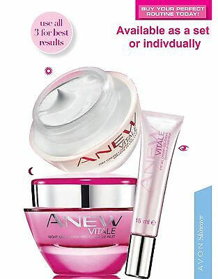 Avon Anew VITALE (25+) Day Night Eye Creams Full Size NEW boxed