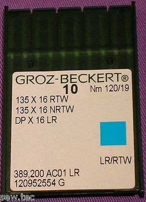 Groz Beckert Leather Point Industrial Walking Foot Machine Needle 135X16Rtw /19