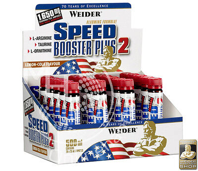Weider Speed Booster Plus 2 (47,82€/L) 20x 25ml LEMON-COLA !Guarana Ornithin