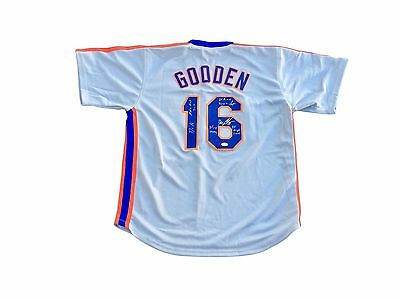 "Dwight Doc Gooden New York Mets ""85 Cy & 86 Champs"" Signed Jersey JSA"
