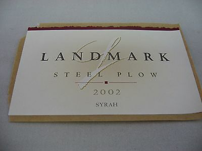 Wine Label: LANDMARK 2002 Steel Plow Syrah