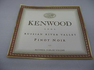 Wine Label: KENWOOD 2002 Pinot Noir Russian River Valley California