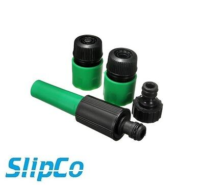 Garden Hose Pipe 4pc Tap Connector Conection Set Fitting Adaptor hoselock UK