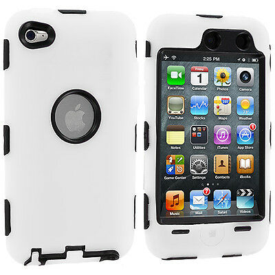 Blanc - Coque Deluxe rigide 3 pièces + Protection pour iPod Touch 4G
