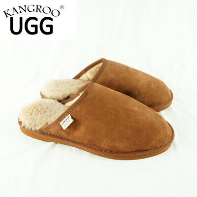 New Unisex Wool Australia Winter Warm Sheepskin Kangroo® Ugg  Slipper Scuffs