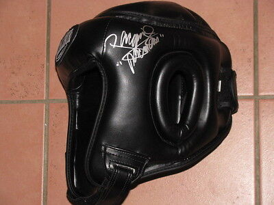 Manny Pacquiao Hand Signed Headgear v Floyd Mayweather