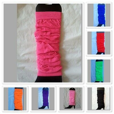 Neon Fluro Leg Ankle Knee Arm Warmers 80s Disco Punk Dance Party