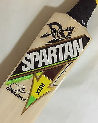 Spartan Chris Gayle RDX Grade 1 Kashmir Willow Cricket Bat (Indoor) + Free Ship