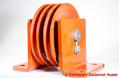"""Jeamar Winches, Dual 8"""" Sheave VBD10500, Vertical Direction Block, Pulley"""