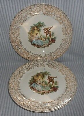 Set Of 5 Triumph American Limoges China D'OR Warranted 22K Gold Dinner Plates