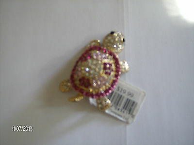 sparkling jeweled turtle chiefly company 2 x 1 1/4 NEW WITH TAGS