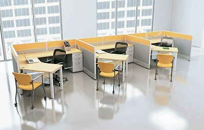 Divi Modern Collaborative Office Modular Workstation/Desk/Table/Cubicle/Panels