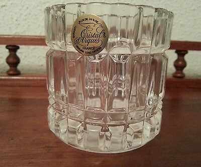 New 24% Lead Cristal D'Arques France Montparnasse Votive Holder Made In France