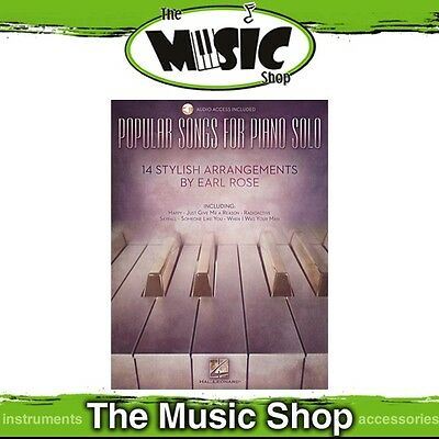 New Popular Songs for Piano Solo Music Book with Online Audio Access