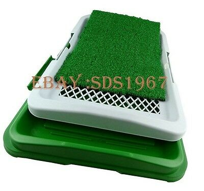Pet Puppy Toilet Trainer Absorbent Grass Mat Potty Pads Indoor House Litter Tray