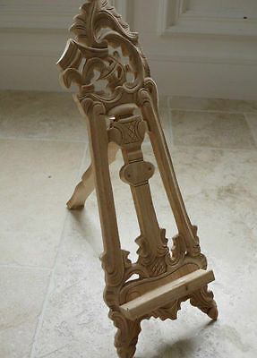 Vintage Traditional Style Natural Wood Table Top Easel Wedding Photo holder