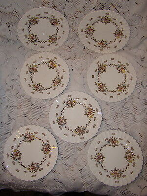 7 Vintage J. & G. Meakin Small Plates Chatsworth England 7 Inches