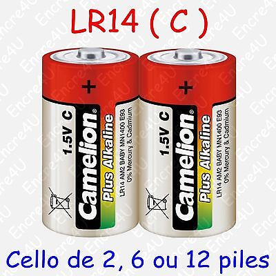 Pile Alcaline Plus type C LR14 R14 MN1400 AM2 E93 1,5V ( lot de 2, 6 ou 12 )